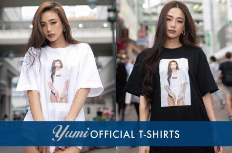 """モデル""""YUMI""""のオフィシャルTシャツ発売"""