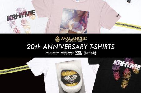 AVALANCHE 20周年記念Tシャツ発売
